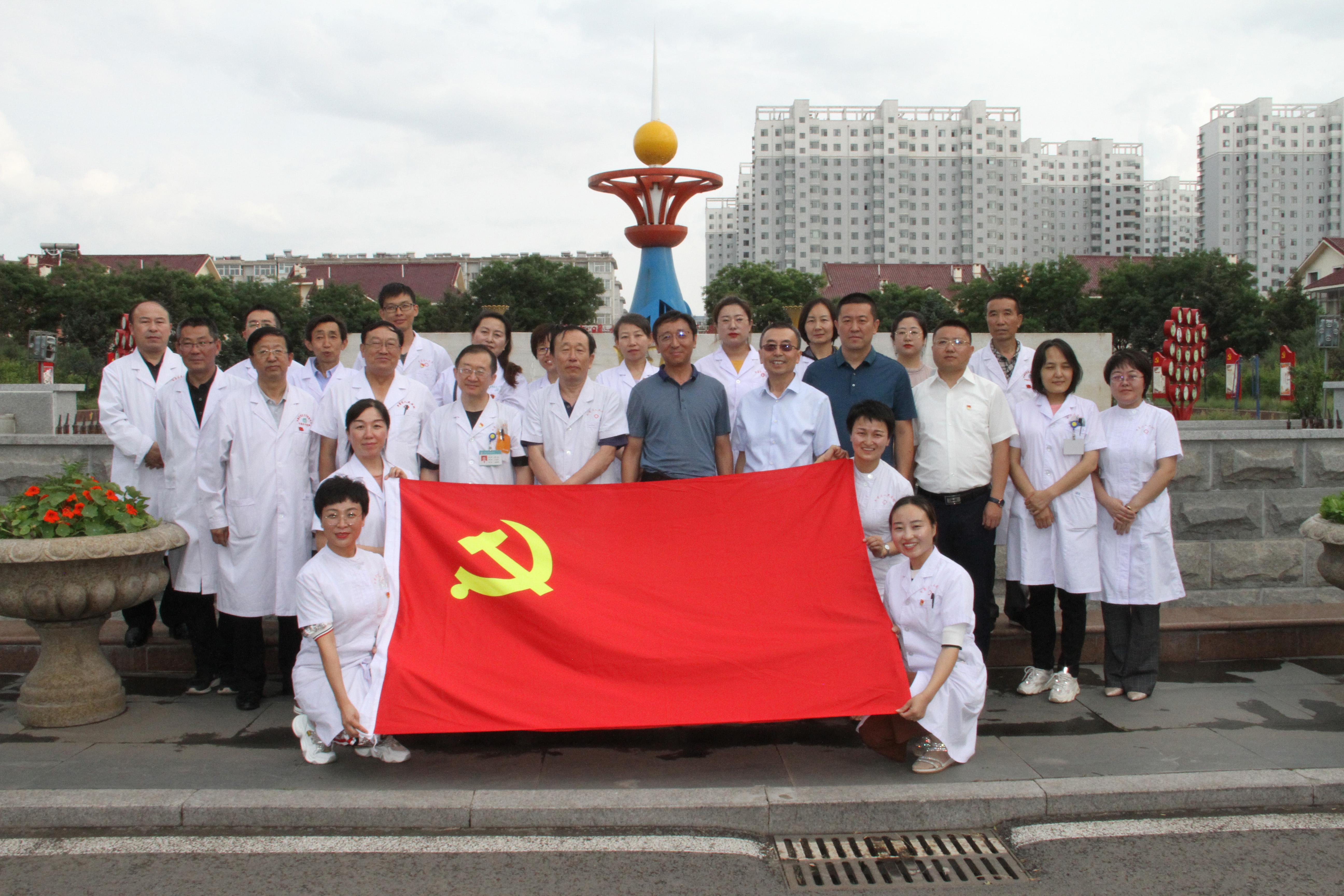 平鲁区医疗集团、榆岭乡党政班子在欧宝娱乐代理申请村史馆开展主题党日活动